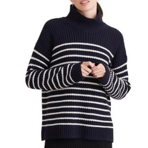 Alex Mill Mock Neck Merino Wool & Cashmere Sweater